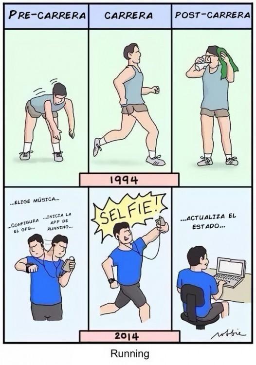 dibujos de la diferencia de hacer ejercicio en 1994 ha como se hace en el 2014