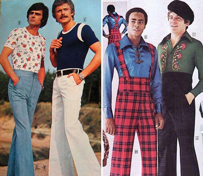 pantalones de campana en los 70's