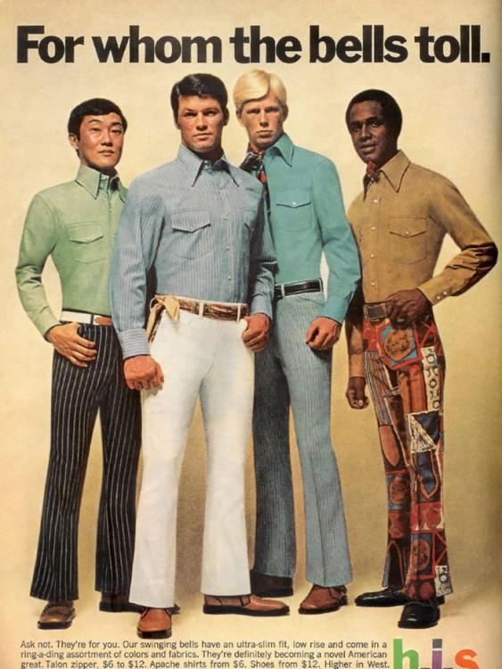 hombres campana en los 70