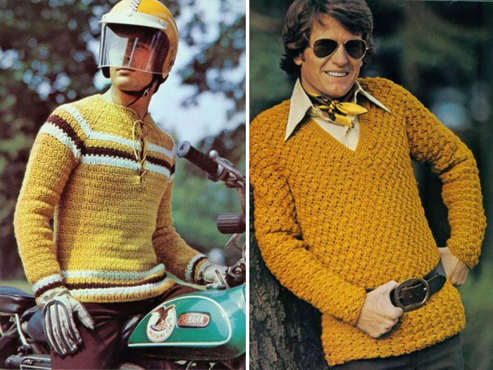 sueter mostaza 70s