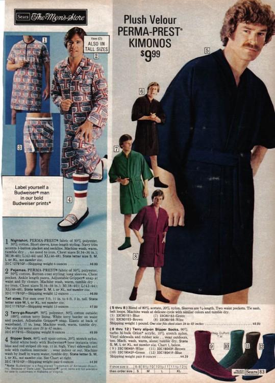 hombre con pijama de los 70