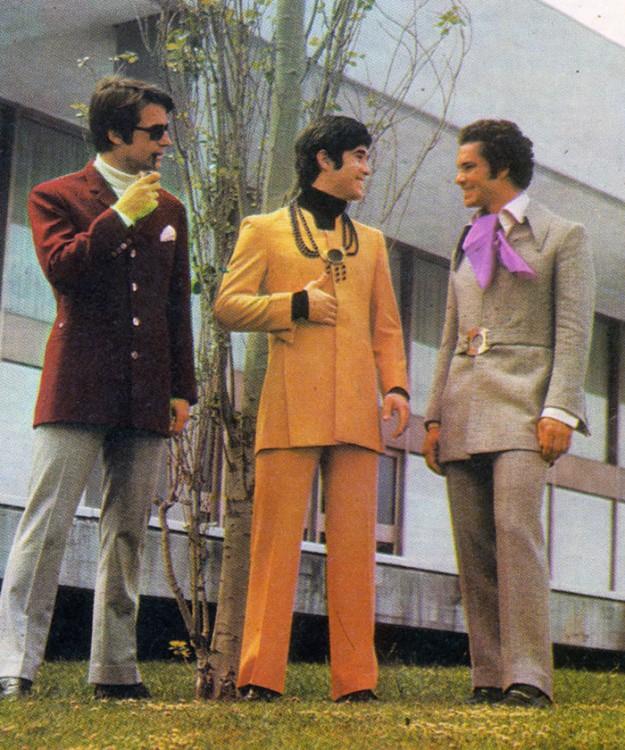 hombres relax en los 70