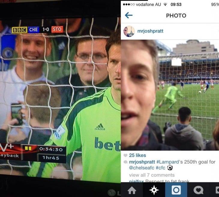 selfie gol momento perfecto