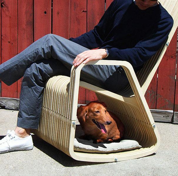 silla con espacio para mascota