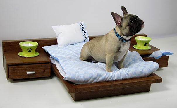 cama de lujo estilo japonesa para mascotas