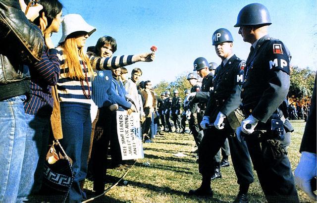 Durante las protestas de la guerra contra Vietnam, Virginia, 1967