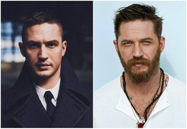 Tom hardy con barba
