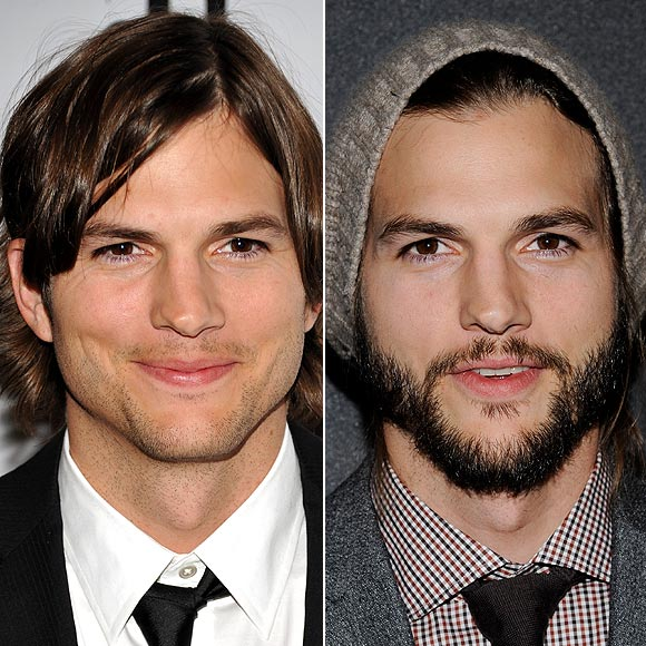 ashton kutcher con barba