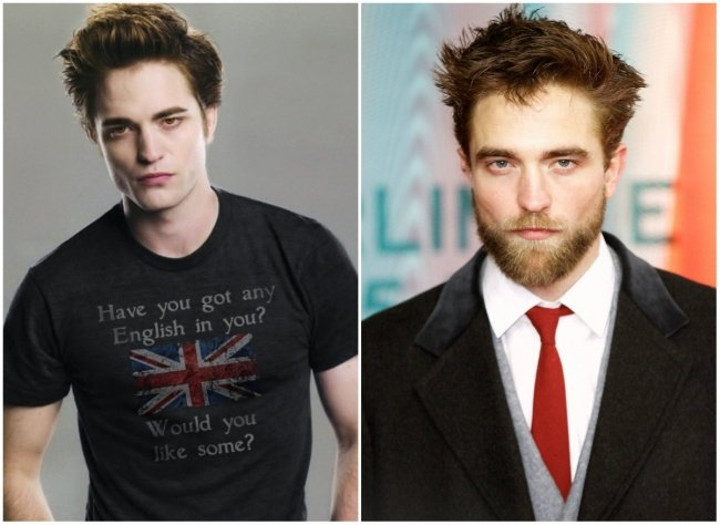 robert pattinson con barba
