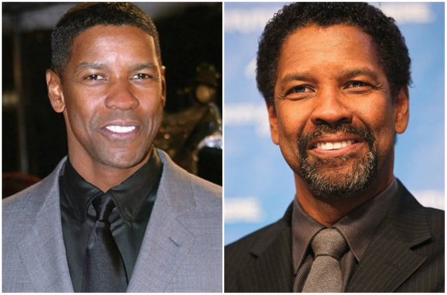 Denzel Washington con barba