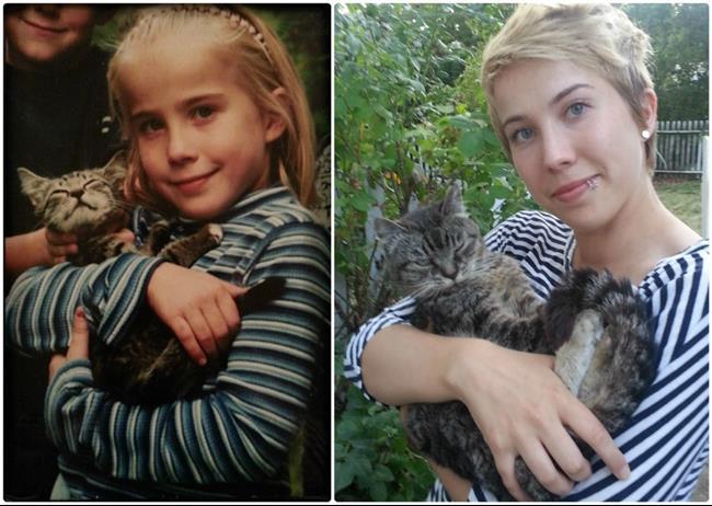 niña y gato amigos para toda la vida