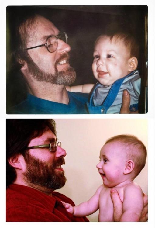 padre e hijo, hijo y padre