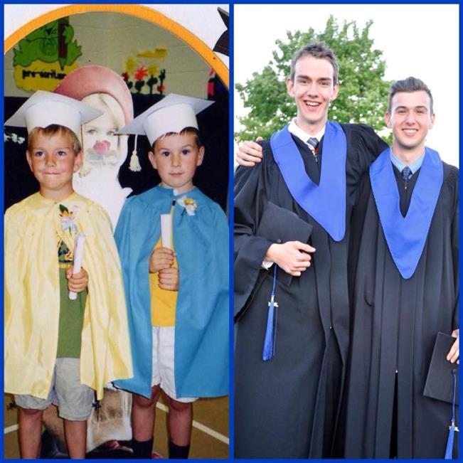 ellos en su graduación