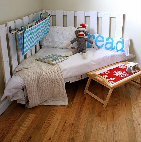 esquinero para el cuarto del bebe hecho con pallets diy