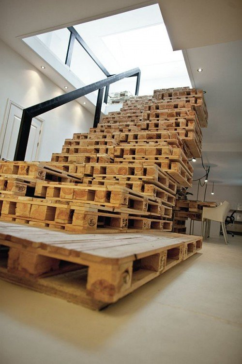 escalera de pallets diy