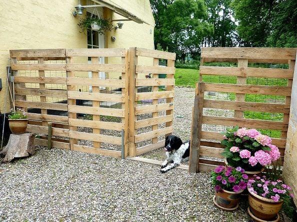 reja para jardin hecho con pallets diy