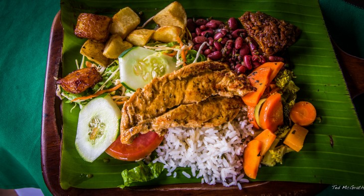 Platillo Casado típico en Costa Rica