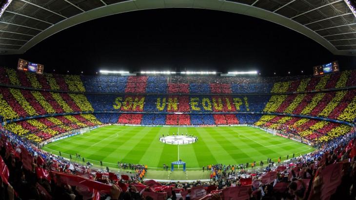El estadio Camp Nou en Barcelona, España