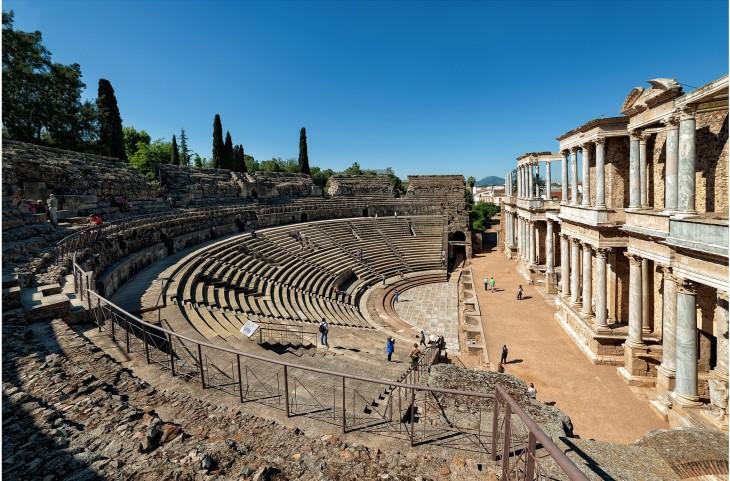 Teatro romano ubicado en Mérida, España