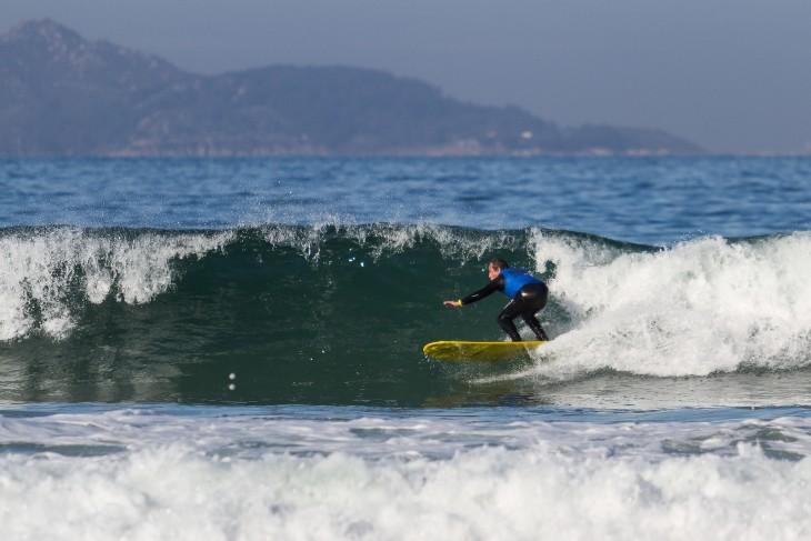 Playa de Patos de Nigrán, Galicia en España