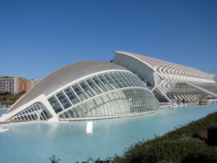 Ciudad de las Artes y las Ciencias en Valencia, España