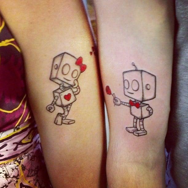 tatuaje de parejas de robot tatto couples