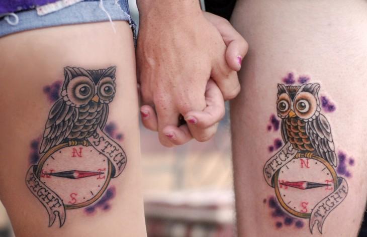 bhuos brujula tatuajes de parejas