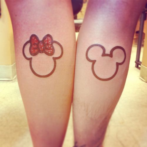 Minnie mickey couple tatto parejas tatuaje