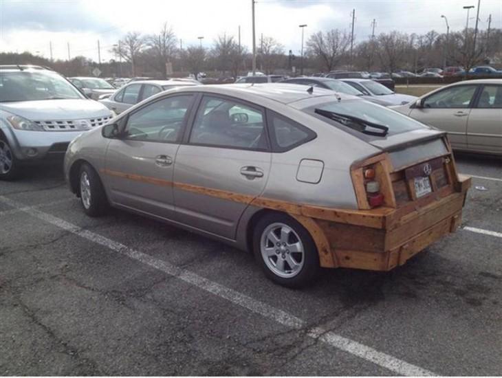 carro con tumbaburro de madera