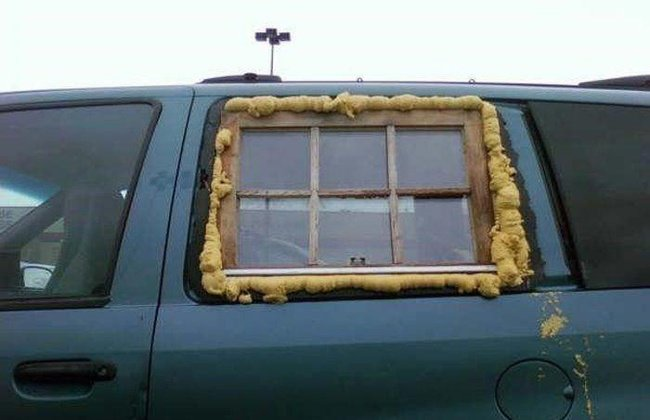 ventana de casa adaptada para carro