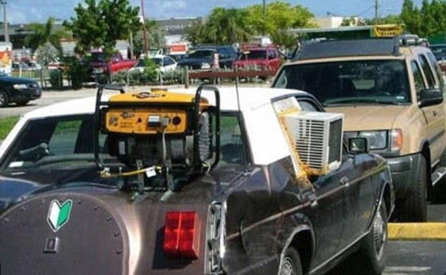 carro con aire acondicionado