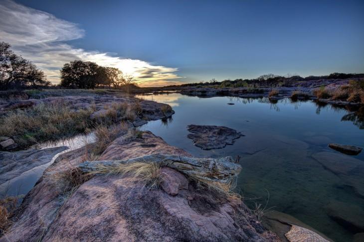 río llano a las afueras de Austin Texas