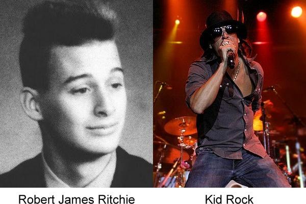 Kid Rock en una imagen que muestra cuando era más joven