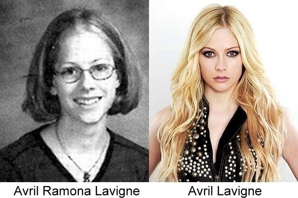 antes y después de Avril Lavinge