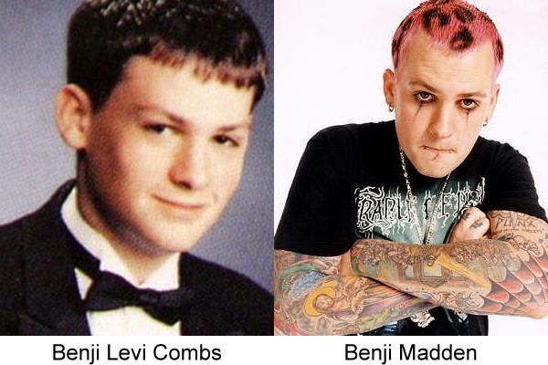 Benji Madden antes y después de estar en Good Charlotte