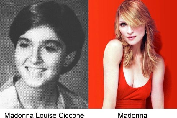 fotografía de Madonna cuando era joven en comparación con una actual