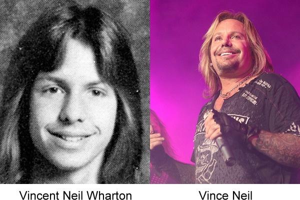 Vince Neil en una fotografía comparando su antes y después