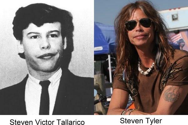 fotografía del antes y después de Steven Tyler