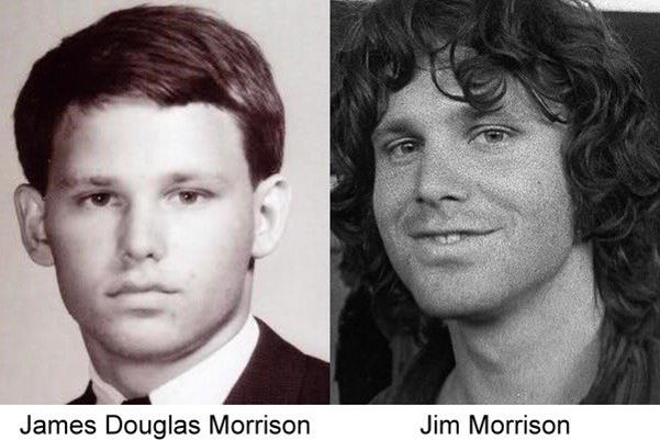 fotografía de cuando era joven Jim Morrison