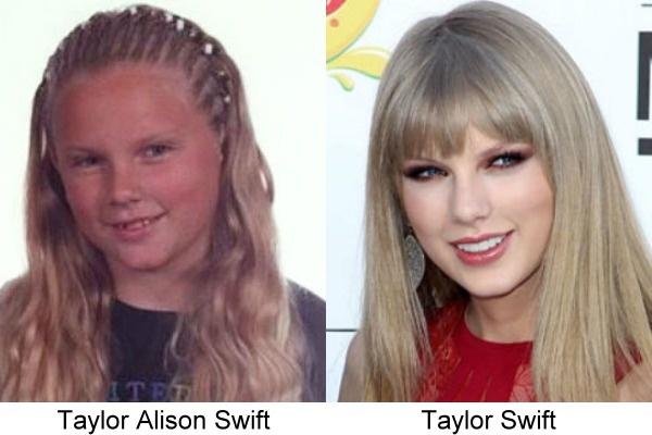 fotografía de Taylor Swift de cuando era niña con una actual