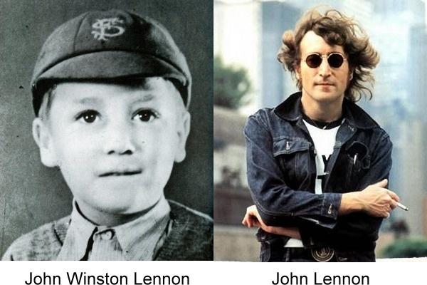 fotos del antes y después de John Lennon