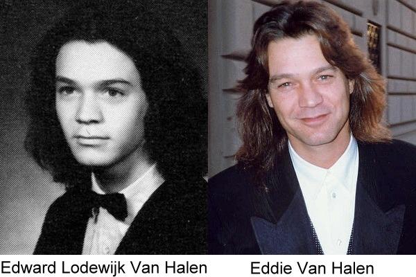 imagen del antes y después de Eddie Van Halen