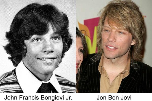 Jon Bon Jovi antes y después