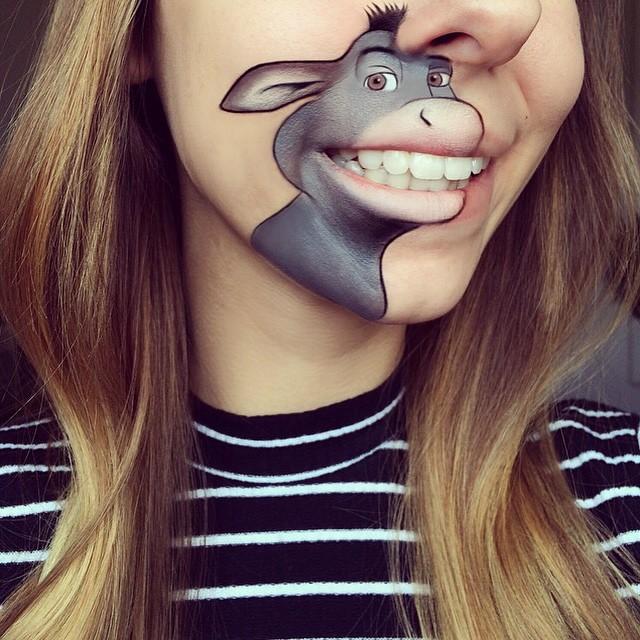 burro sherk en los labios