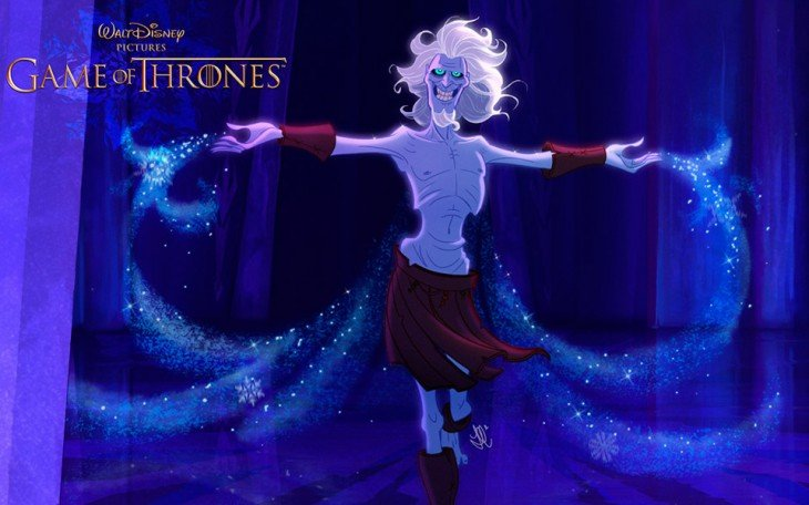 White Walkers de game of thrones diseñado por disney