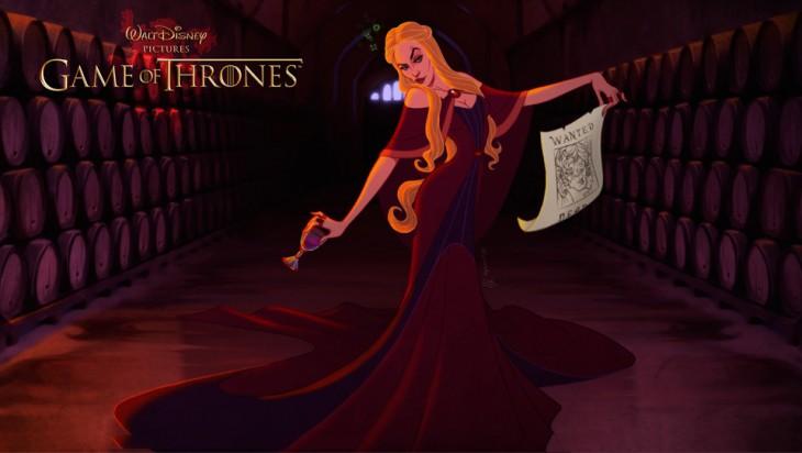 Cersei Lannister diseño al estilo Disney