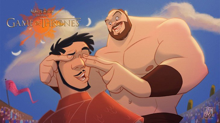Oberyn y The Mountain de game of thrones