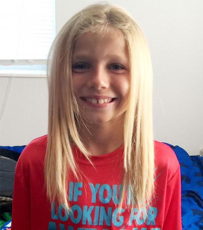 Christian McPhilamy niño que se dejo crecer el cabello para donarlo a niños con cancer