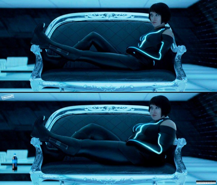 """Olivia Wilde """"The Tron"""" con sobrepeso por David Lopera"""