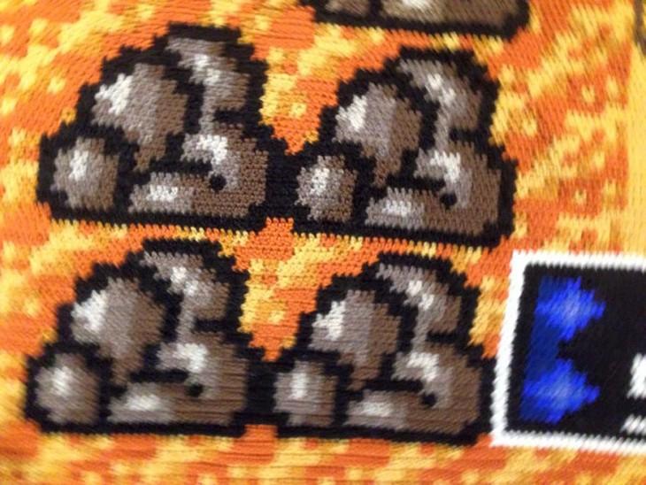 foto cerca de la alfombra del plano de Mario Bross 3
